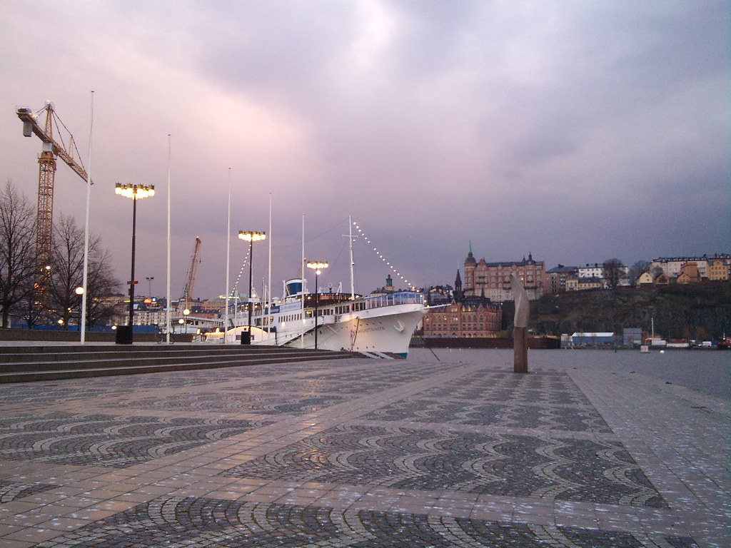 Sunset in the rain over Stockholm City Hall - 6