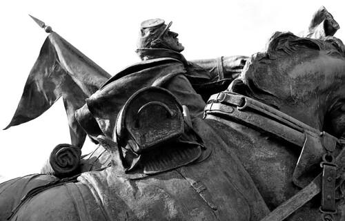 Artillery Group, Grant Memorial, Washington, D.C. (Ilford Pan F Plus. Nikon F100. Epson V500.)