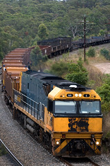 NR6 passing through Yanderra with 2XW4 SteelLink service to Wollongong (Port Kembla)