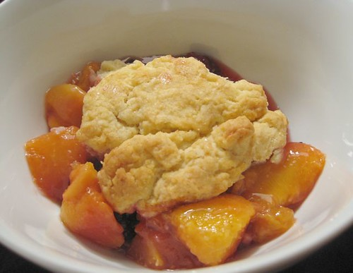 Peach and Blackberry Cobbler 1