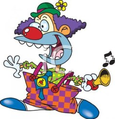 0511-0810-0315-3348_Cartoon_of_a_Crazed_Clown_clipart_image