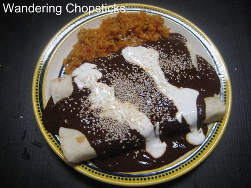 Chicken Enchiladas with Nutella Mole Poblano 3