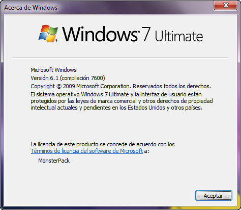 Windows 7 RTM - 7600