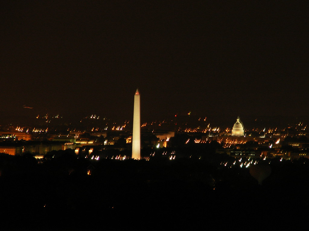 This is the view from the roof of my building at night!!