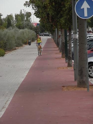 Carril Bici Avenida de America arreglado.