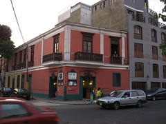 Our place in Barranco (Alexa in 2nd floor window)