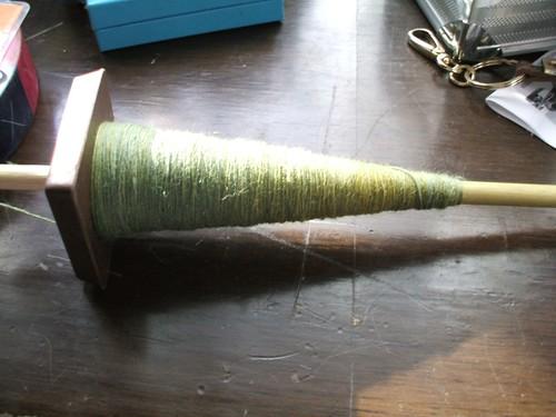 spun green fiber