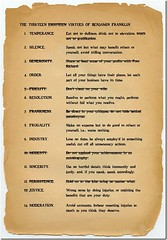 Ben Franklin's 13 Virtues