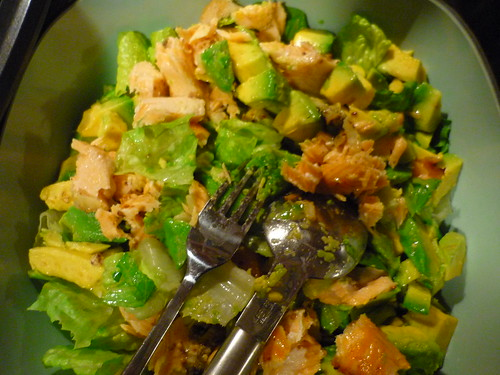 Salmon & avocado sallad