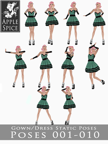 Apple Spice - Gown/Dress Static Poses