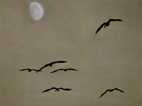 .... flight of the moon