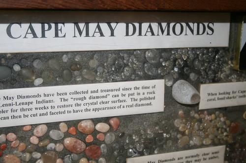 Display of Cape May Diamonds