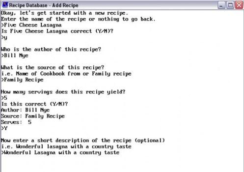HMCsoft Recipe Database   Get HMCsoft Recipe Database at SourceForge.net