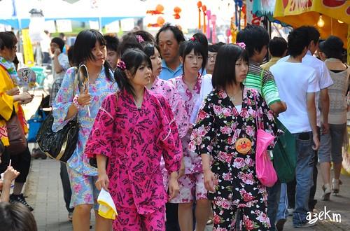 Girls in jinbei