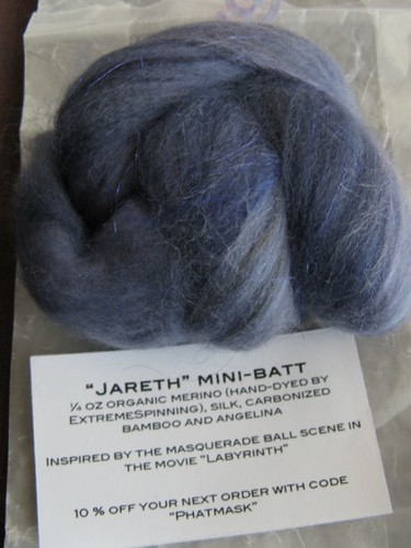 """Jareth"" organic merino, silk, carbonized bamboo, and angelina - Ambrosia and Bliss"