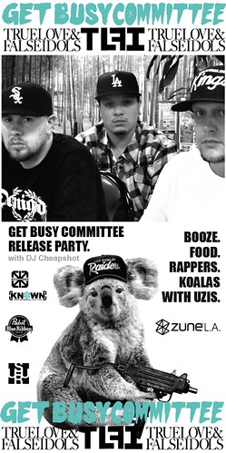Get Busy Committee Uzi Does It Release Party Flyer