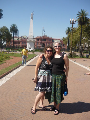 Mom and Me at Casa Rosada
