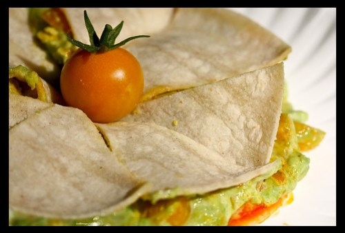 My fave dinner in July. Homemade/homegrown guacamole on Corn tortillas by you.