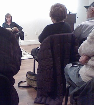 "Zoe Heller reads from her novel, ""The Believers"", at the DCJCC Jewish Literary Festival / photo taken by Rachel Mauro"