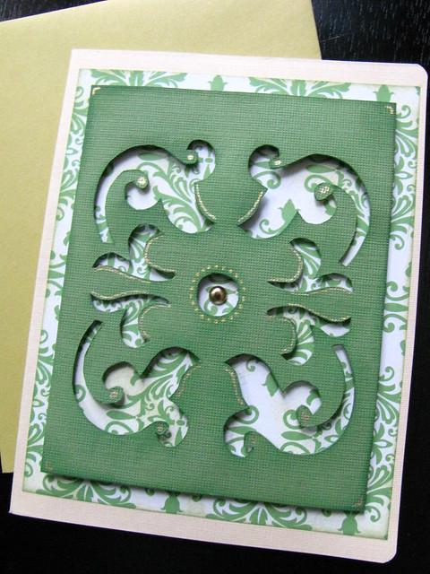 Carved crest on paper
