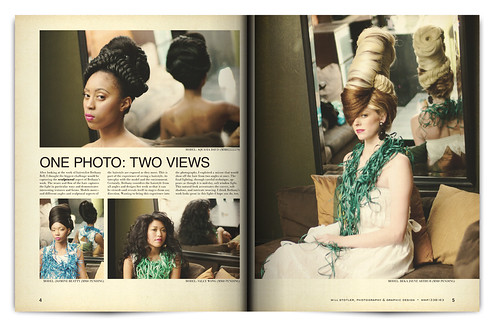 Design Project: Aqua Night Magazine Spread - pgs. 4 & 5