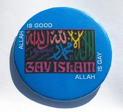 allah is good allah isgay rainbow button