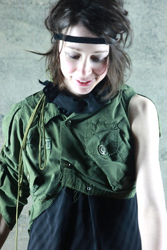 reworked army vest one of  kind $150