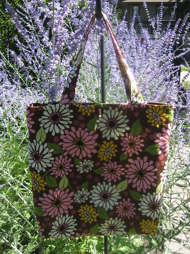 brown/green tote