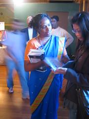 Lovela mataji - Handing over the evening schedule