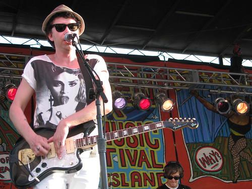 SIREN FEST 007 by PalestraMusic. The Raveonettes Sune Rose Wagner at Siren Fest 2009; photo by Jillian Mapes.