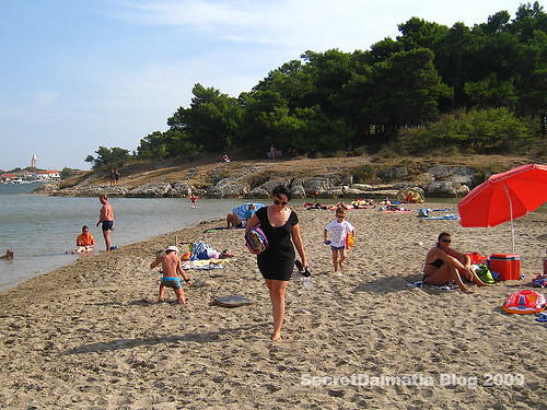 Popular beach for families