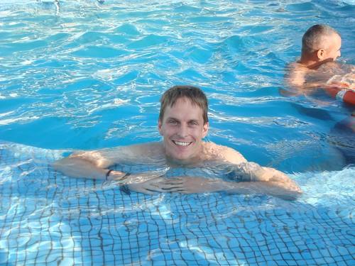 Frankenstein Anders in the ferry pool