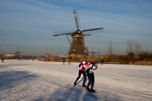 Panning con patinadores
