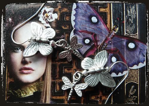 Orecchini farfalla libellula - Butterfly earrings IAMEFAR