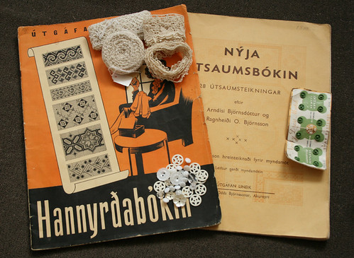 Buttons, lace and old pattern books