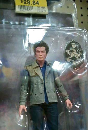 a creepy figurine of Edward from Twilight. His hands look poised to strangle someone. He doesn't even sparkle.