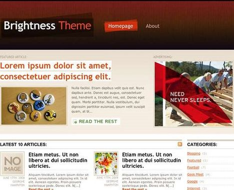 Brightness Free WordPress Theme