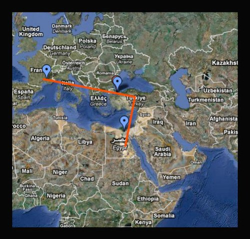 OUR TRIP MAP...CAIRO -ISTANBUL-AVIGNON by you.
