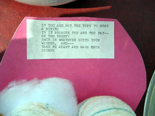 Bikini poem close-up