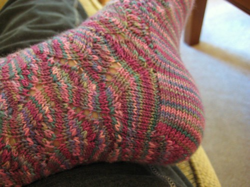 toe-up heel flap from Sensational Knitted Socks