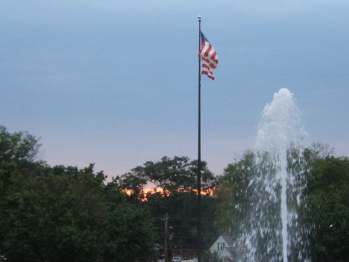 Sunrise, Flag & Fountain
