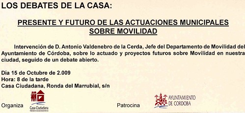 Debate sobre Movilidad en la Casa Ciudadana.