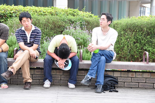 Japanese public sleeping