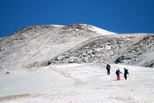 Hikers on Loveland Pass