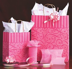 Pink Swirl Paper Shopping Bags