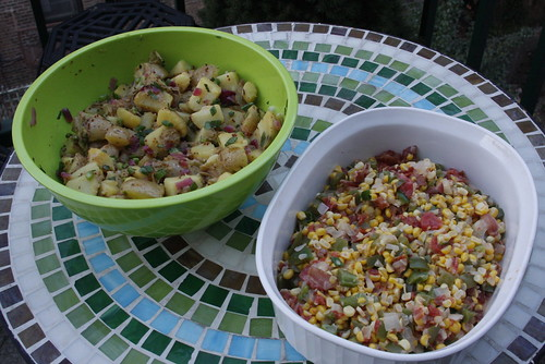 German Potato Salad and Maque Choux