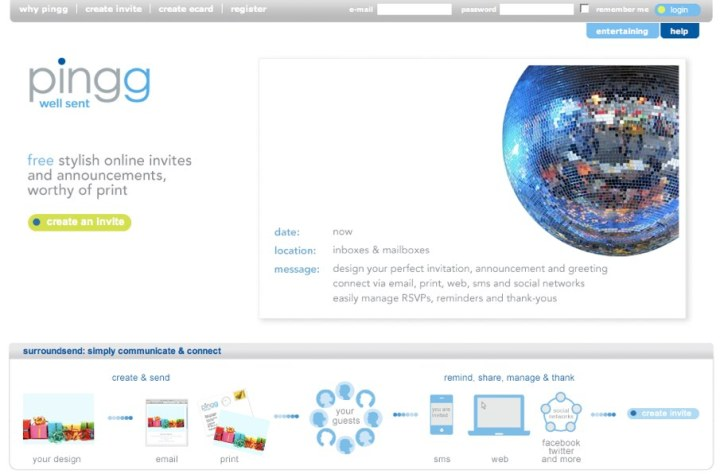 pingg home page