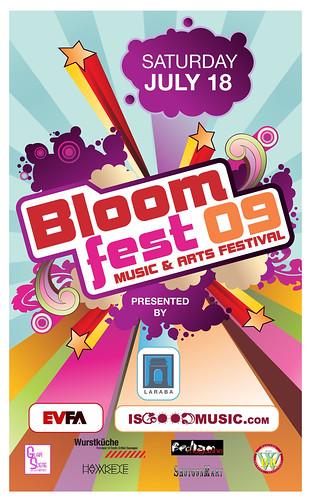 ROBOTANISTS @ Bloomfest 2009 Poster - Los Angeles, CA 7.18.09
