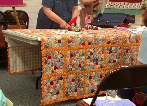 vintage yoyo quilt