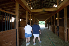 Lauri and Jodi tour the barn